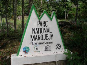 Marojejy National Park sign at entrance