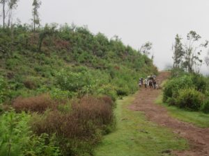Hiking down Ankaratra